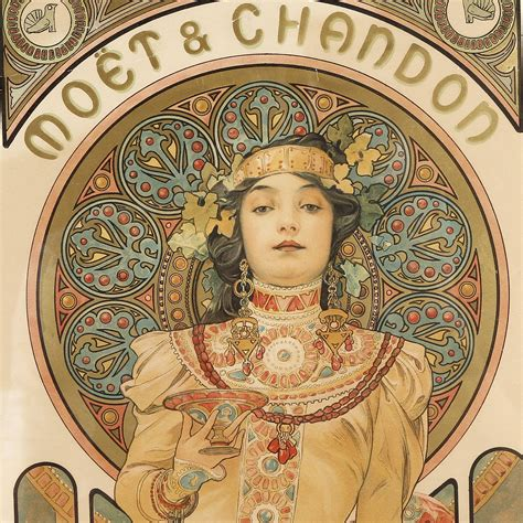 Alfons Mucha alphonse mucha two matching posters for mo 235 t chandon