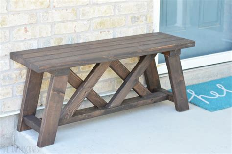 front porch bench diy front porch bench the happy scraps