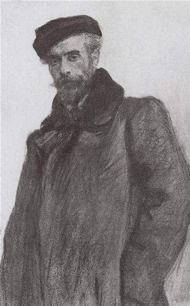 Portrait of the Artist Isaac Levitan, 1900 - Valentin ...