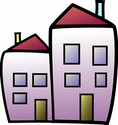 Clipart Clip Housing Apartment Social Building Cliparts