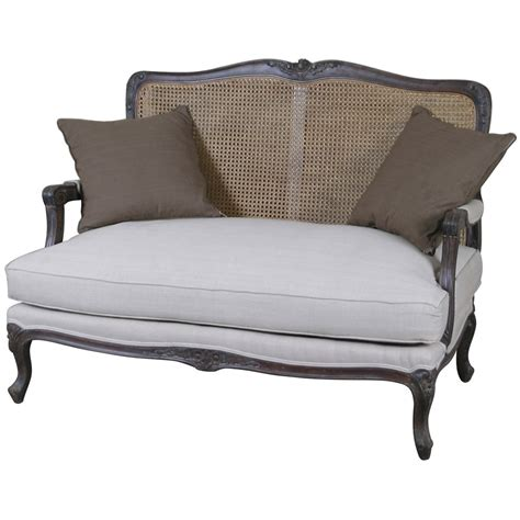 style couches louis 2 seater sofa with rattan back style
