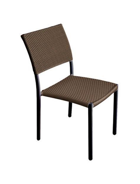 chaise de jardin en résine tressée chaise en résine tressée hedone chaise marron glacé empilable rhodos