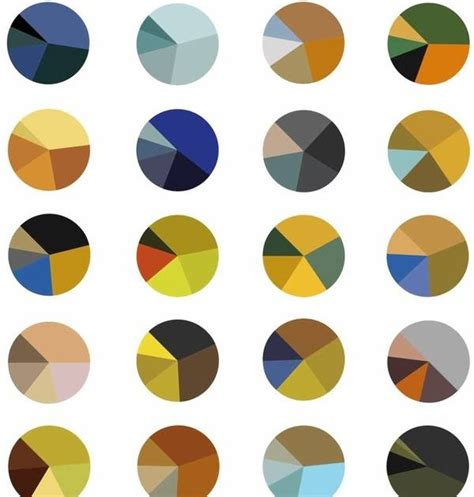 gurney journey van goghs color schemes served  pie charts