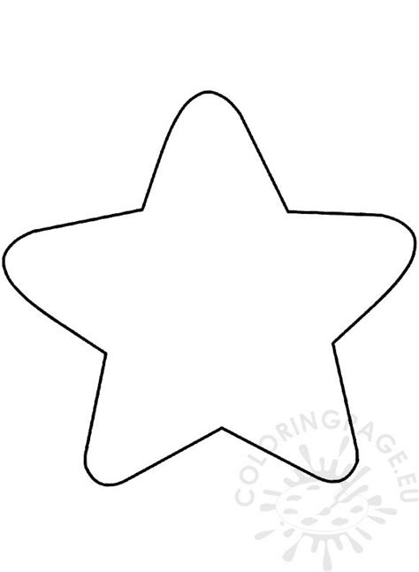 large christmas star template  point star coloring page