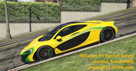 Mclaren P1 Ayrton Senna Skin Gta5modscom