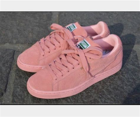 light pink puma shoes shoes suede puma puma light pink sneakers pink