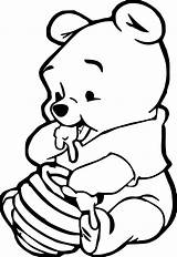 Coloring Pages Baby Animal Pooh Winnie sketch template