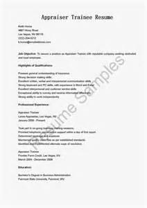 claim adjuster trainee resume sle cover letter real estate appraiser value appraisal real estate appraiser trainee resume
