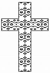 Coloring Printable Cross Pages Crosses Mosaic Christian Flower Adult Easter Pattern Hubpages Cliparts Clip Library Clipart sketch template