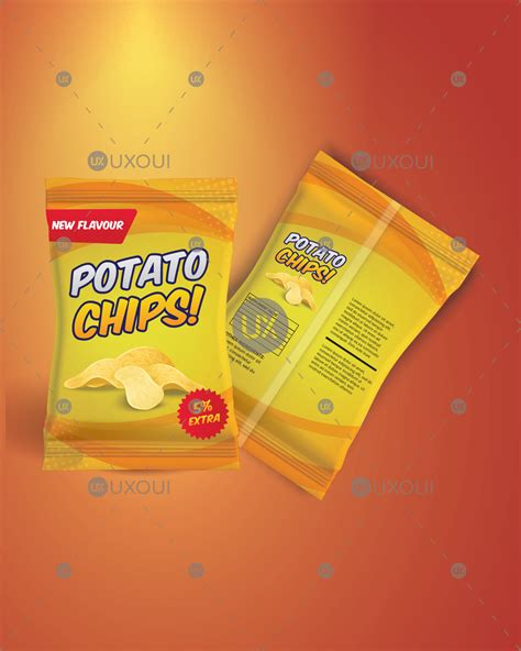 109 packaging vectors & graphics to download packaging 109. Unique potato chips packaging mockup design template ...