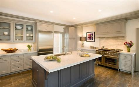 taupe kitchen cabinets transitional kitchen benjamin harbor cassia design