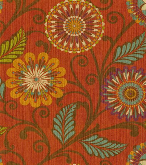 Hgtv Home Decor Print Fabric Urban Blosson Harvest At