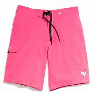 Hurley Phantom Board Shorts in Pink for Men neon pink