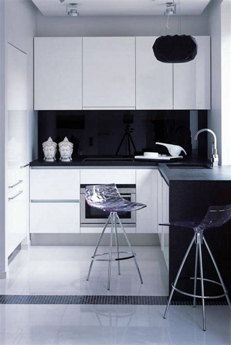 black kitchen cabinets small kitchen design idea of classic black and white kitchen midcityeast 7882