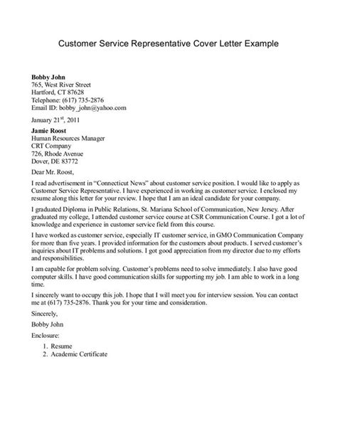 Client Service Representative Cover Letter by 25 Best Ideas About Cover Letter On