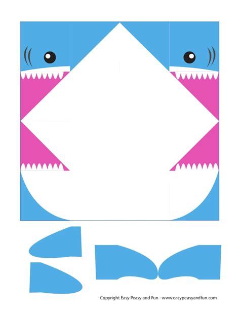 Cootie Catcher Template Shark Cootie Catcher