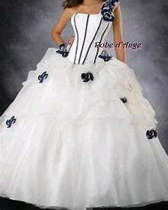 robe de mariee bleu marine With robe blanche et bleu