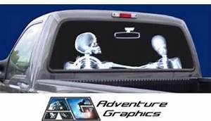 vehicle graphics rear window graphics x ray custom With custom rear window lettering