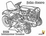 Deere John Coloring Tractor Mower Printable Tractors Yescoloring Garden Daring Printout sketch template