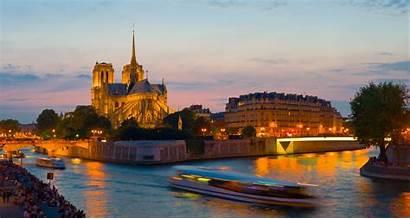 Sena Paris Notre Dame River Rio Notte