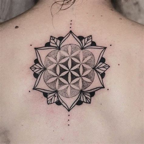 cool flower  life tattoo ideas  geometric