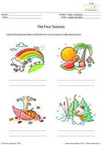 Four Seasons Weather Worksheet