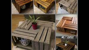 Table Basse Caisse Bois : table basse caisse pomme luminaires youtube ~ Nature-et-papiers.com Idées de Décoration