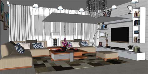 Sketchup Living Room Model by Sketchup Texture Sketchup Model Living Room