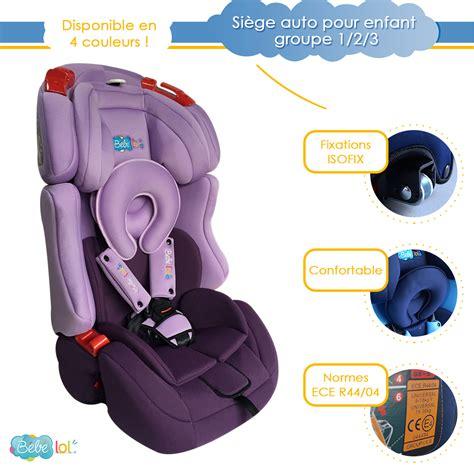 siege auto groupe 1 2 3 siège auto évolutif isofix bébélol pour enfant groupe 1 2