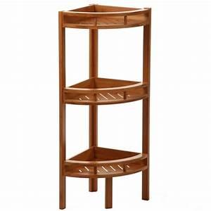 Etagere D Angle Cuisine : tag re d 39 angle bambou 3 niveaux hauteur 85 cm maison fut e ~ Teatrodelosmanantiales.com Idées de Décoration