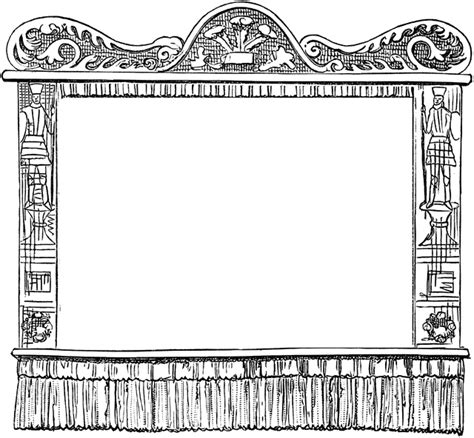 stage clipart black and white empty puppet state clipart etc