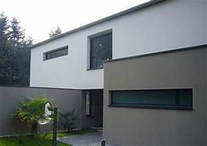 couleur crepi maison moderne ventana blog With couleur facade maison contemporaine 9 maison moderne grise