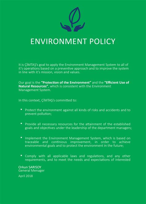 cimtas health safety environmental energy policies