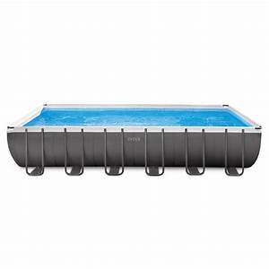 intex 2439 x 1239 x 52quot ultra frame rectangular swimming With piscine intex ultra frame rectangulaire