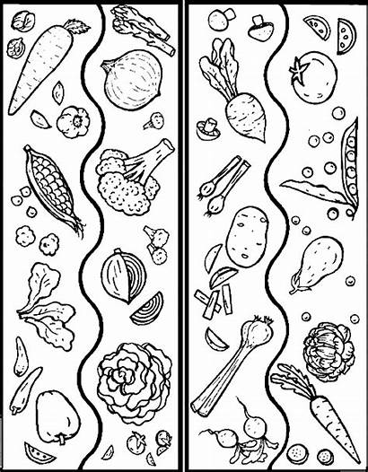 Coloring Vegetables Vegetable Pages Printable Sheets Mix