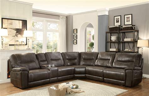 furniture reclining sectional homelegance columbus reclining sectional sofa set d