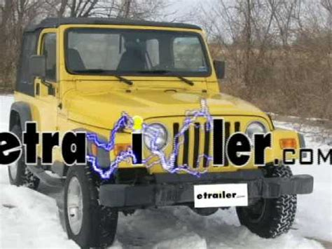 Jeep Trailer Wiring Harnes 2000 by Trailer Wiring Harness Installation 2000 Jeep Wrangler