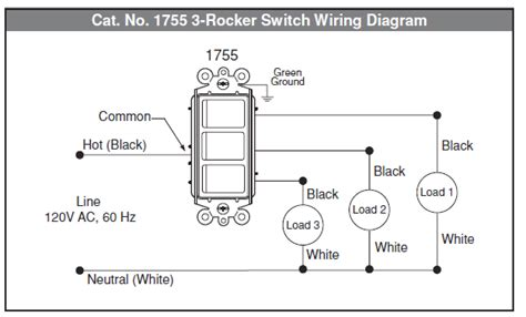 electrical   wire multi control rocker switch home improvement stack exchange
