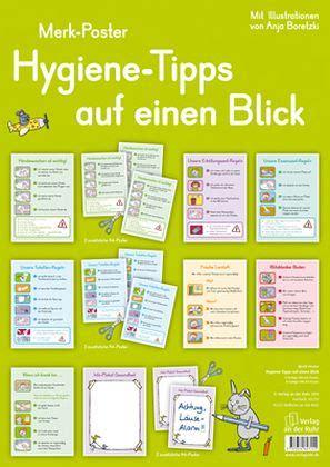 hygiene tipps auf einen blick   poster fachbuch
