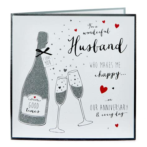 For example, the first event is the initial occurrence or, if planned, the inaugural of the event. Buy Platinum Collection Anniversary Card - Wonderful Husband for GBP 1.99 | Card Factory UK