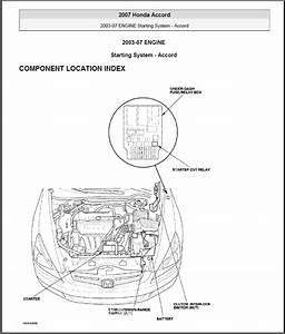 Starting - Replacing Starter Relay On Honda Accord 2003
