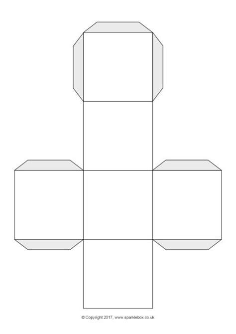 Dice Template Blank Dice Cube Net Template Sb223 Sparklebox