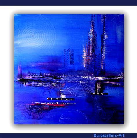 kabrebu art original acryl bilder blau abstrakt leinwand