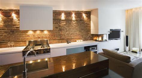 Apartment Brick Wall Imanada Innovative And Vintage