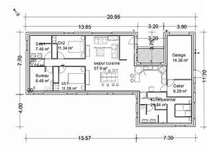 plan maison plain pied 143 m2 18 messages With lovely plan de maison 110m2 2 plan de maison carre