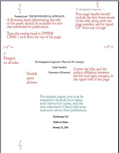 title pages   style manuscripts