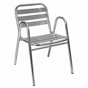 Fauteuil Jardin Aluminium : chaise terrasse aluminium mobilier restaurant mobeventpro ~ Teatrodelosmanantiales.com Idées de Décoration
