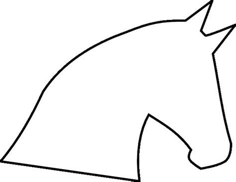 horse clipart template pencil   color horse clipart
