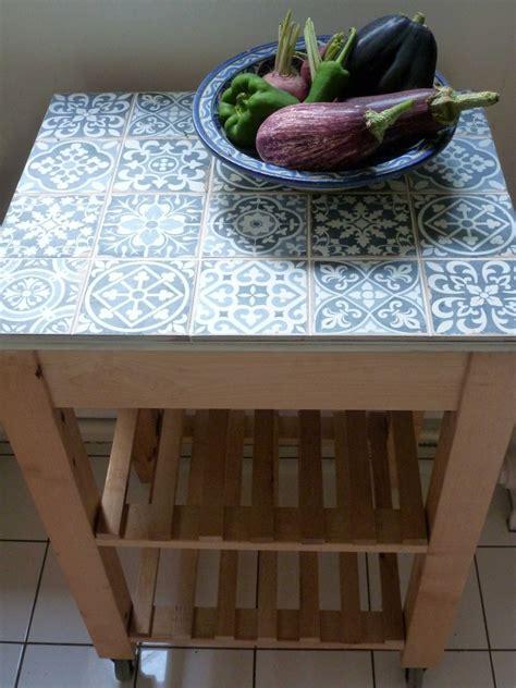 relooker table de cuisine desserte bekv 228 m carrel 233 e bidouilles ikea