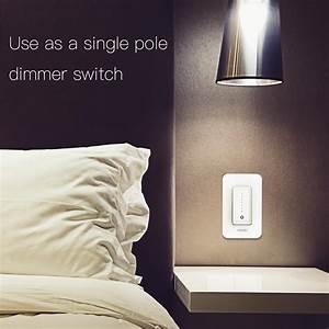 Snow Rock Series Single Pole  3 Way Smart Dimmer Switch